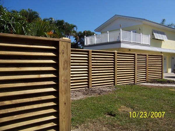 Youtube building woodworking benches, Louver Fence