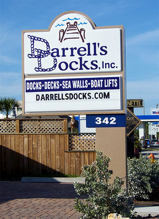 Darrells Docks Sign